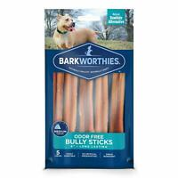 Barkworthies Odor-Free 6-inch Bully Sticks (5 Pack) - All-Natural Dog Chews