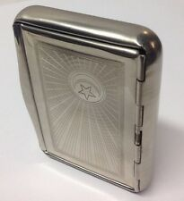 RARE Vintage Metal Cigarette Cases new old stock over 40 years,  HAPPY HOILDAYS