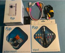 Flip UltraHD Video Camera White & Chrome, 8 GB, 2 Hours  U2120W BUNDLE