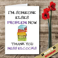 Personalised THANK YOU TEACHER School Leavers Greeting Card Humour Funny -22