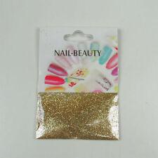 *** (0,68€/1g) 1,5 g Glitter Glitzer Nailglitter - Gold - für Nailart