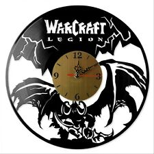 "NEW  Vinyl Record Wall Clock ""WarCraft: Legion"", modern decorative art ~ 12"""