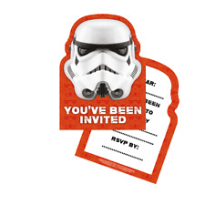 Official STORM TROOPERS INVITATIONS Star Wars Birthday Party Invites + Env 6 Pk