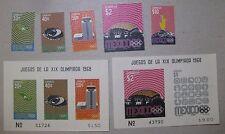 Mexico Souvenir Sheets 998a / 998a / 996-1001 Mnh 1968 Olympics High Cat Value