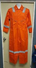 Walls Orange Hi Visibility Work Coveralls Size 42-XTall  Reflective Hi Vis