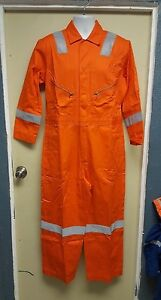 Walls Orange High Visibility Work Coveralls Size 40-XTall