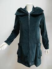 EUROPEAN CULTURE manteau femme en velours mod.55NO couleur vert foncé taille L
