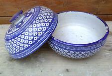 Ancien pot à biscuit ou soupiére, ancienne porcelaine style porcelaine asiatique