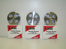 Lee 90269 4-Hole Turret / Qty Of (3) Three 90269 - For turret press - Holds dies