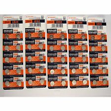 50 NEW LR44 MAXELL A76 L1154 AG13 357 SR44 303 BATTERY