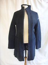 Ladies Coat - Firetrap, size L, charcoal grey, acrylic/wool, lined, zip up 0897