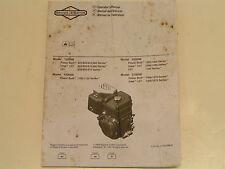 Briggs & Stratton Small Ohv Engine Operator'S Manual- Model#120000,150000 &
