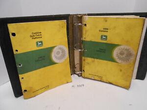 John Deere Parts Catalog 4400 Combine & Platform Heads Catalogs #PC1164, PC1177