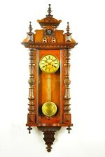 Gorgeous Antique German Junghans Spring Driven Wall Clock XL approx.1900
