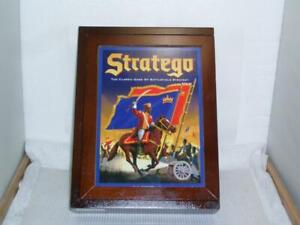 Stratego Board Game Wooden Book Box Bookshelf Vintage Collection 2009 MB