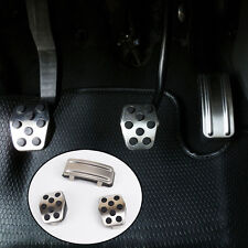 Fit For 05-11 Ford Focus Mk2 M/T Chrome Foot Pedal Cover Pads Rest Caps Clutch