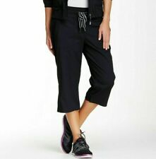 Msp By Miraclesuit Casual Crop Pants Black Sz L Work Out & Yoga Exercise Nwt