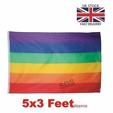 TRIXES Large LGBT Rainbow Gay Pride Festival Diversity 5ft x 3ft Flag UK