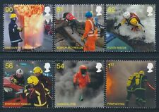 2009 GB FIRE & RESCUE SERVICE SET OF 6 FINE MINT MNH SG2958-SG2963