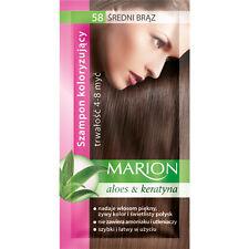 MARION Hair Color Shampoo SACHET 40ml ALOE KERATIN LASTS 4-8 WASHES NO AMMONIA