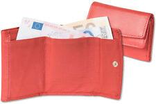 Rinaldo® Kleine Geldbörse mit Geldscheinfach aus feinem Nappa Leder in Rot