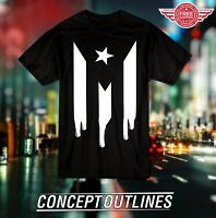Puerto Rico Flag T-shirt XL L M S Premium Shirt Custom Adult Boricua