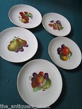 BOHEMIA CERAMIC NEUROHLAU Bohemia Czechoslovakia  c1920s 5 fruit plates[105]