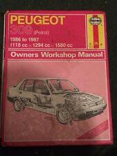 Haynes Workshop  Manual 1266 .Peugeot 309 Petrol . 1986 to .1987 .