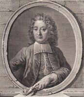 Portrait XVIIIe Jean François Lalouette Compositeur Musique Baroque Lully 1786