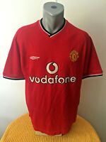 MANCHESTER UTD Retro 2000/02 Soccer Jersey Home Football Shirt Maillot Trikot