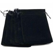 50 Bag Gift Small Black Velvet Cloth Jewelry DrawstringPouch 2.6x3.5