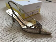 Magrit Bronze And Peral Effect Snakeskin Court 35