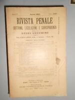 RIVISTA PENALE DI DOTTRINA, LEGISLAZIONE E GIURISPRUDENZA 1914 ANNATA COMPLETA