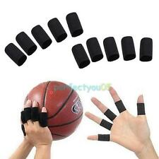 10x Finger Protector Sleeve Support Basketball Sports Aid Arthritis Band Wraps