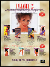 CALLANETICS / CALLAN PINCKNEY__Original 1994 Trade AD fitness promo / advert
