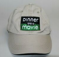 Dinner and a Movie Strapback Hat Khaki Tan Baseball Cap Adjustable