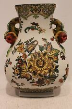 Beautiful Chinese Hand Painted  Porcelain Square Pot Flower Design Pomegranate