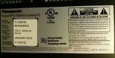 "PANASONIC TC-P50ST50 50"" LED HDTV CRACKED SCREEN FOR PARTS-"