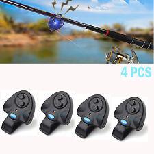 Electronic LED Fishing Rod Bite Sound Bell Alarm Alert Clip On Carp Fishing Rod