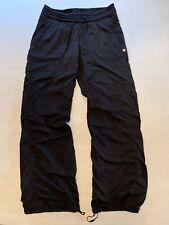 Lululemon Womens Lined Studio Drawstring Pants Black Size 8 Reg Regular