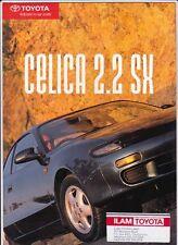 1992 TOYOTA CELICA 2.2 SX New Zealand 4p Brochure Folder ST184