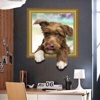3D Photo Pet Dog Room Home Decor Removable Wall Sticker Decals Decoration*