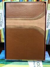 Biblia de Estudio Arco Iris,riiena valera Canel damasco, Símil Piel Con índice