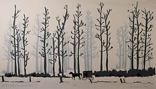 """L. Cohen Dodson Original LE Lithograph, """"Over The River and Through The Woods"""""""