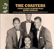 The Coasters FOUR (4) CLASSIC ALBUMS +SINGLES Greatest Hits ONE BY ONE New 4 CD