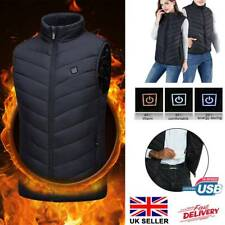 Men Electric Vest Heated Cloth Jacket USB Warm Up Heating Pad Body Warmer Women~