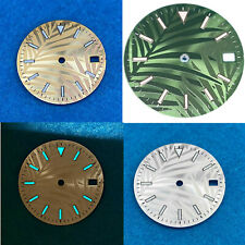 28.5mm Watch Dial Blue-green Luminous Dial Fit for Nh35/4R/7S/Nh35A Movement