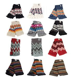 Kusan 100% Wool Handwarmers Choice of Patterns (Mens/Ladies/Unisex)