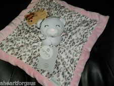 Carters SECURITY BLANKET White BEAR Leopard Jungle Cat Spots Pink Gray Lovey NWT