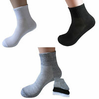 Durable 5 Pairs Men's Brand New Socks Thermal Casual Soft Solid Sport Socks Gift